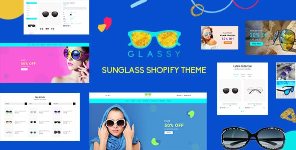 Glassy - Sunglass, Luxury Store Shopify Theme