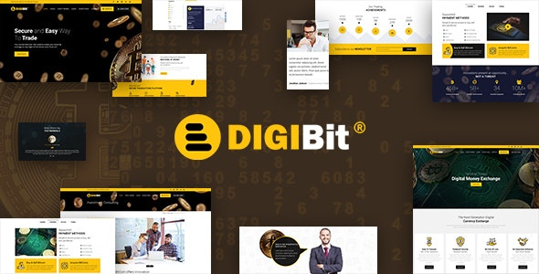 DigiBit - Bitcoin Trading Theme - Software Technology