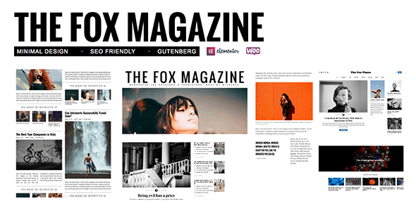 The Fox - Minimal Blog/Magazine Theme For Creators - Personal Blog / Magazine