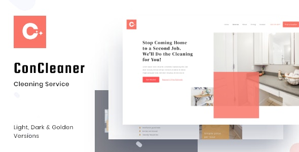 ConCleaner - Professional Cleaning & Services HTML Template - Business Corporate