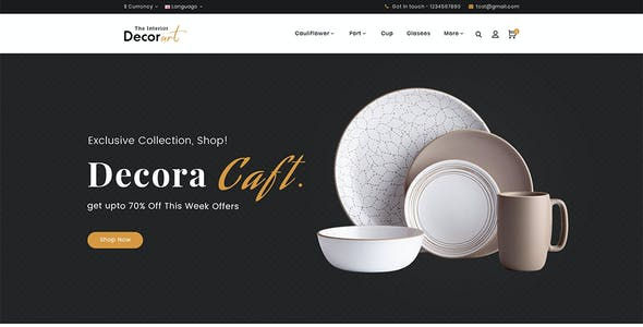 Decor Art - Opencart Multi-Purpose Responsive Theme