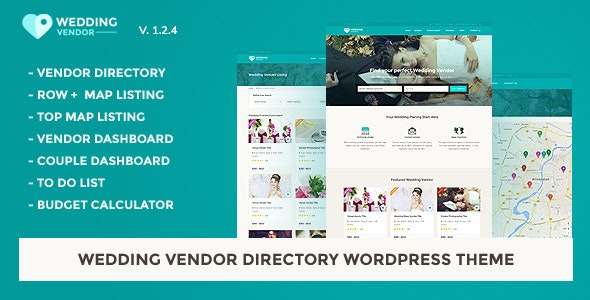 Wedding Vendor Directory & Listing WordPress Theme - Directory & Listings Corporate