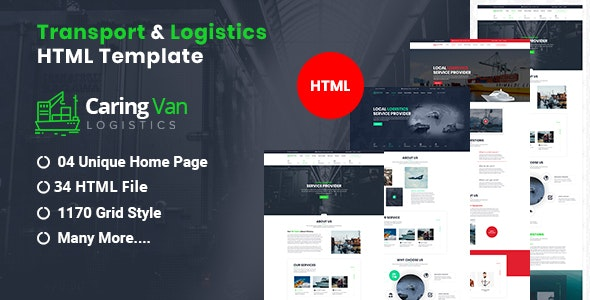 Caring Van-Logistics & Transport HTML5 Template - Business Corporate