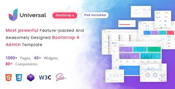 Universal - Multipurpose Bootstrap 4 & 5 HTML Admin Dashboard Template