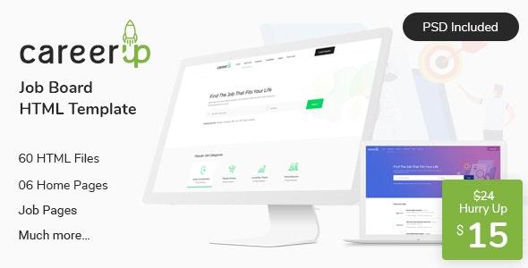 CareerUp - Job Board HTML Template - Business Corporate