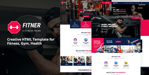 Fitner - Creative HTML Template for Gym, Fitness & Health - Health & Beauty Retail