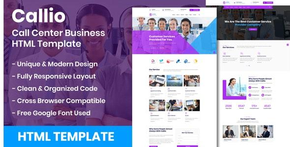 Callio - Call Center Business HTML Template - Business Corporate