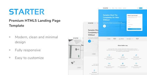 Starter - Premium HTML5 Landing Page Template - Landing Pages Marketing