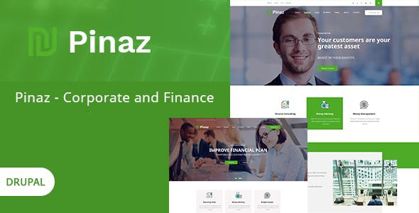 Pinaz -  Business & Agency Drupal 8.9 Theme - Business Corporate