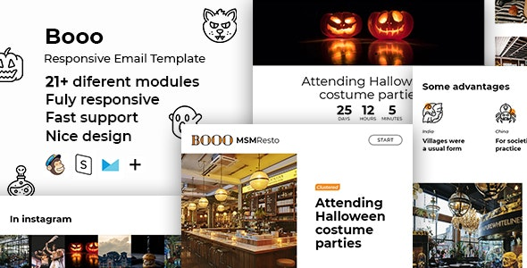 Boo - Halloween HTML Email + StampReady, MailChimp & CampaignMonitor Compatible Files - Email Templates Marketing