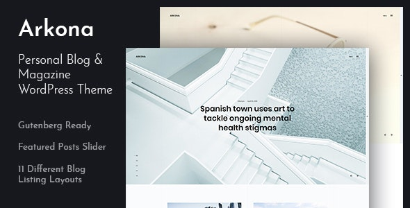 Arkona - Personal Blog & Magazine WordPress Theme - Personal Blog / Magazine