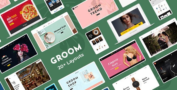 Groom - eCommerce Multi-Purpose PSD Template - Shopping Retail