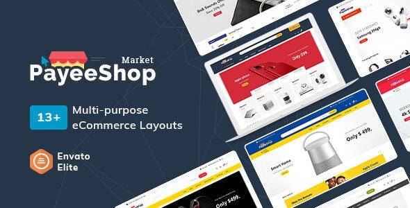 Payee Shop - eCommerce Multi-Purpose PSD Template - Electronics Technology