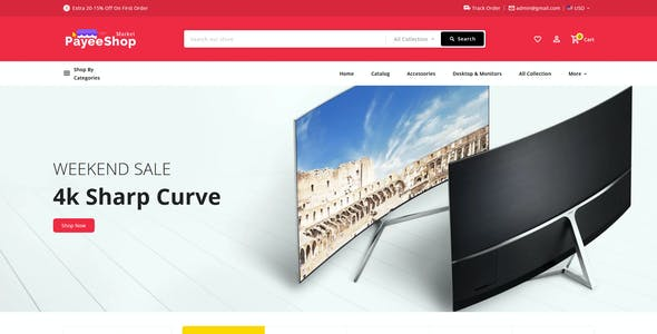 Payee Shop - eCommerce Multi-Purpose PSD Template