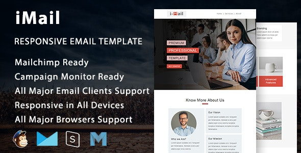 iMail - Multipurpose Responsive Email Template with Mailchimp Editor - Newsletters Email Templates