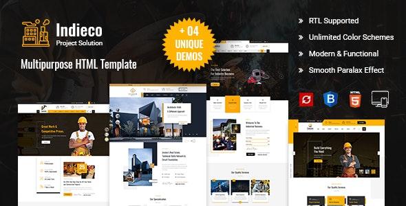 Indieco - HTML Responsive Multi Purpose Template - Business Corporate