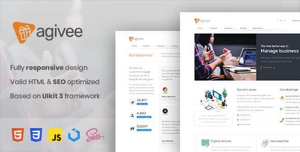 Agivee - Corporate Business HTML Template - Corporate Site Templates