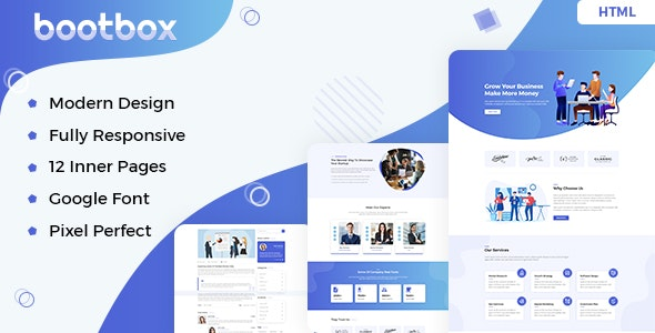 Bootbox – Agency HTML Template - Business Corporate