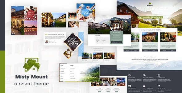 Mount Resort & Hotel WordPress - Travel Retail