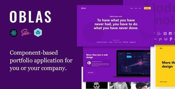 Oblas - React App Portfolio - Portfolio Creative