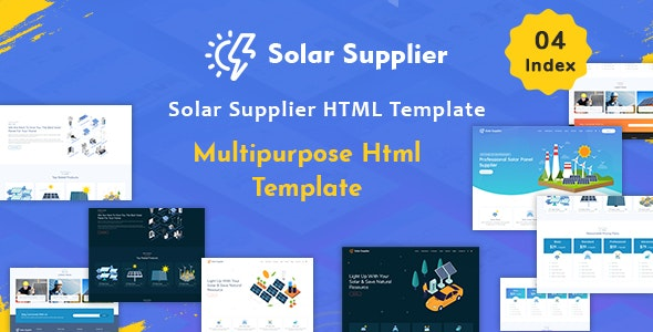 Solar Supplier - Responsive HTML Template - Business Corporate