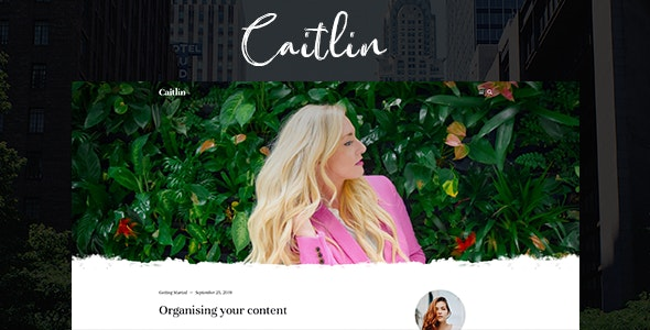 Caitlin — Elegant and Simple Ghost Theme - Ghost Themes Blogging