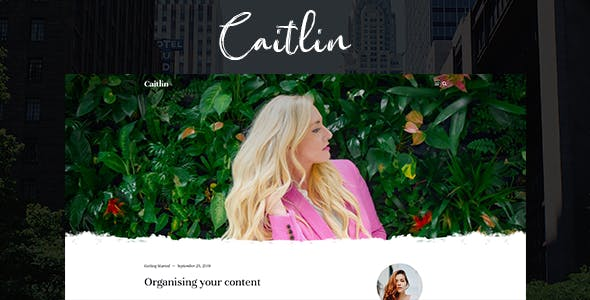 Download Caitlin — Elegant and Simple Ghost Theme