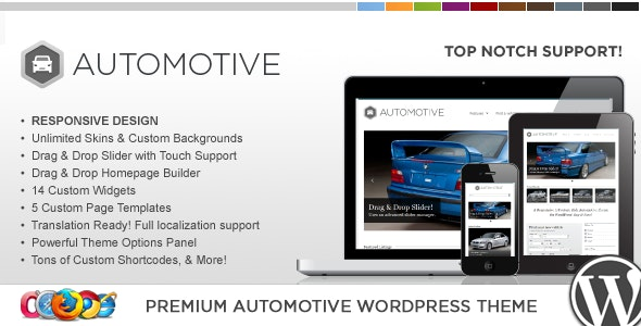 WP Pro Automotive Responsive WordPress Theme - Directory & Listings Corporate