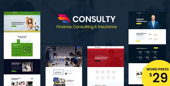 Consulty - Business Finance WordPress Theme - Business Corporate