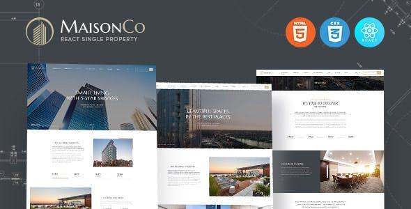 MaisonCo - React Single Property Template