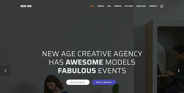 New Age - Creative Agency Joomla Template