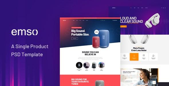 Emso - A Single Product PSD Template - Retail PSD Templates
