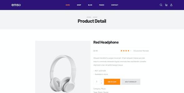 Emso - A Single Product PSD Template