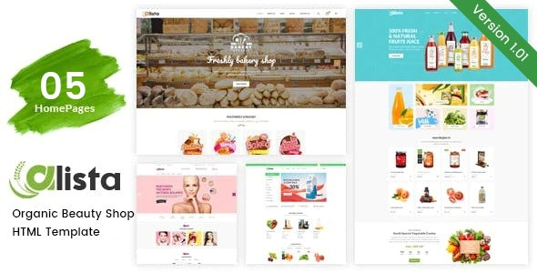 Alista – Organic Beauty Shop HTML Template - Health & Beauty Retail