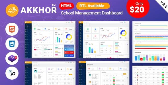 Akkhor - School Management Admin Template - Admin Templates Site Templates