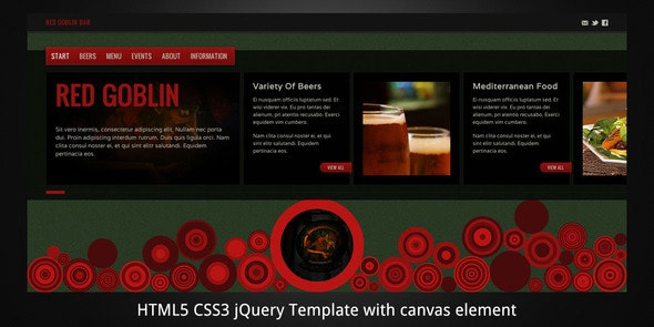 Red Goblin–HTML5 Template For Bars And Pubs - Restaurants & Cafes Entertainment