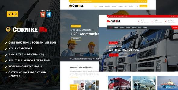 Cornike   Construction Company HTML Template - Business Corporate
