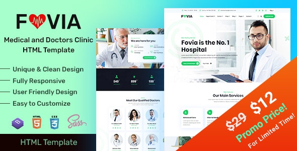 Fovia - Medical Doctor & Healthcare Clinic HTML Template by EnvyTheme