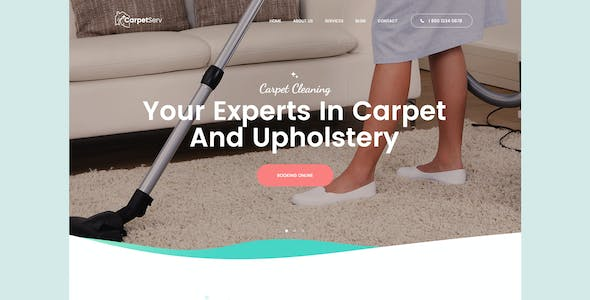 CarpetServ   Cleaning Company, Housekeeping & Janitorial Services PSD Template