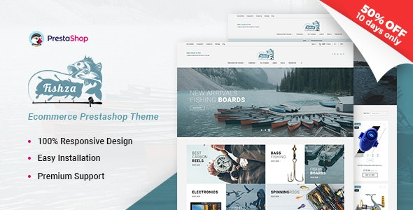 Fishza - Fishing Store Template - Entertainment PrestaShop