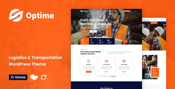 Optime - Logistics & Transportation WordPress Theme - Business Corporate