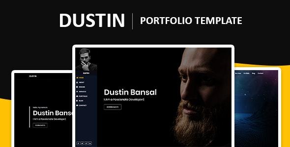 Dustin – Bootstrap 4 Portfolio Template - Personal Site Templates