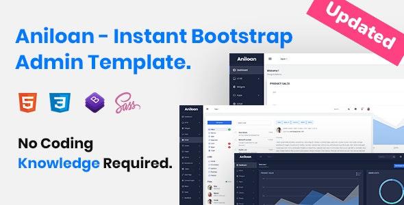Aniloan - Responsive Bootstrap Admin Template - Admin Templates Site Templates