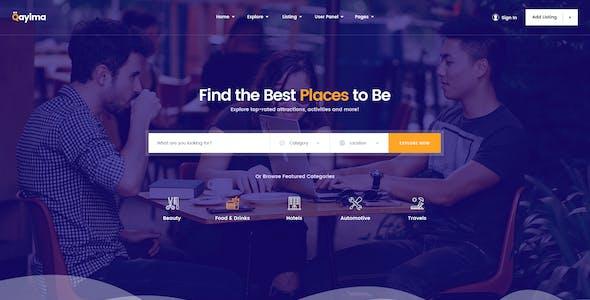 Qayima | Listing & Directory PSD Temlate