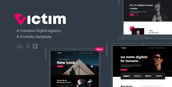 Victim - Digital Agency & Portfolio Template - Marketing Corporate