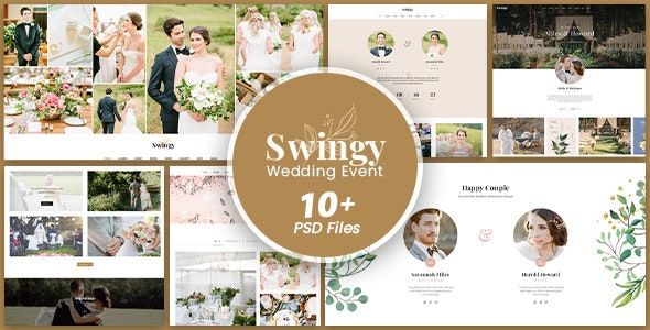 Swingy - Wedding Event PSD Template - Events Entertainment