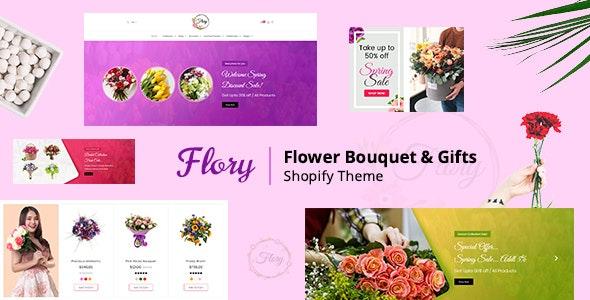 Flory | Florist Bouquet and Boutique Gift Shopify Theme - Entertainment Shopify