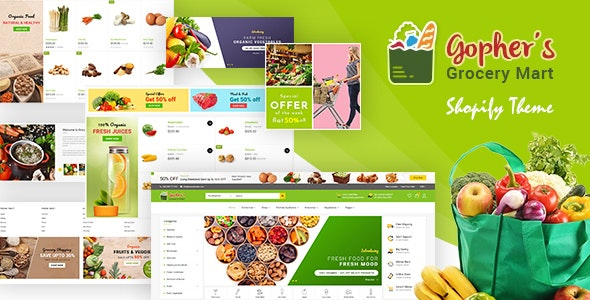 Gopher | Grocery Store Shopify Theme - Entertainment Shopify