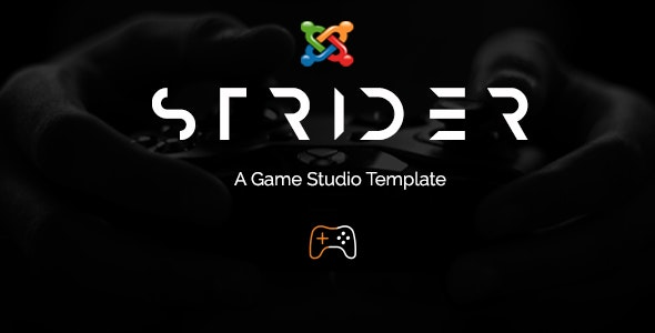 Strider - A Game Studio Joomla Template With Page Builder - Creative Joomla