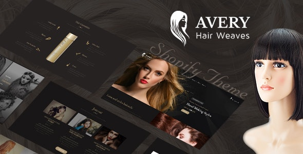 Avery   Hair Wig, Extension Shopify Theme - Entertainment Shopify